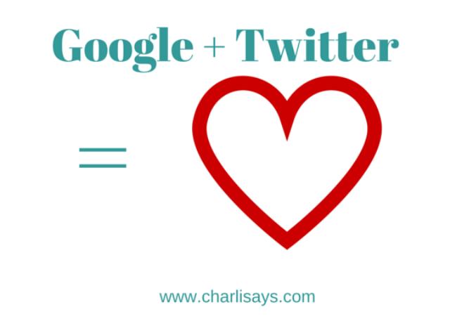 Google + Twitter = Love